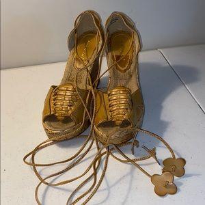 Bamboo brand platform wedge sandal